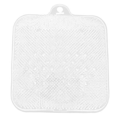 DOITOOL Shower Foot Scrubber Suction Cup Mat Foot Cleaner Massager (Transparent)