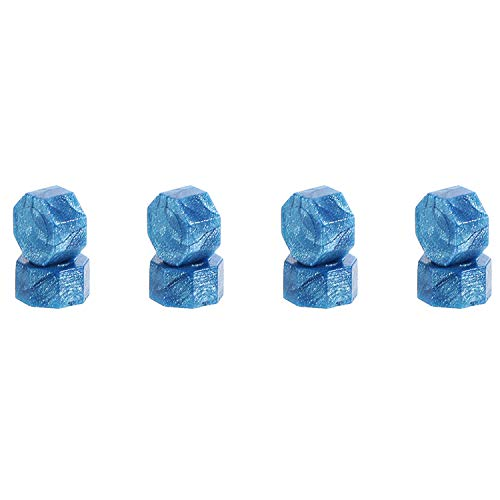 230 Pieces Octagon Sealing Wax Beads Sticks with 2 Pieces Tea Candles and 1 Piece Wax Melting Spoon for Wax Stamp Sealing (Sky Blue)