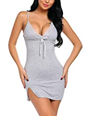 Brand : ADOME, The lingerie dress made by Soft and Comfortable material:95% Polyester, 5% Acrylic This Sexy Nightgown Gown Very soft and comfy, Perfect for night dresses for women sleep, honeymoon, anniversary, bedroom, bathroom and every special nig...