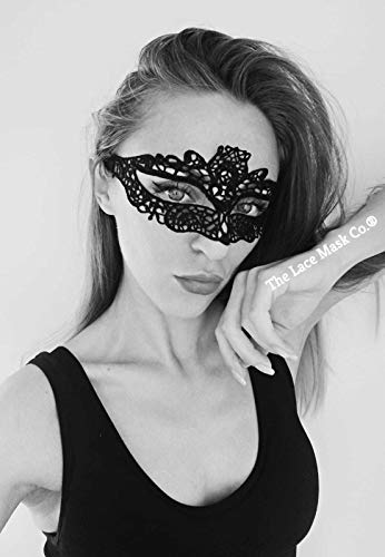 Venetian Royal Black Lace Mask for Masquerade Prom Halloween Carnival Mask Ball