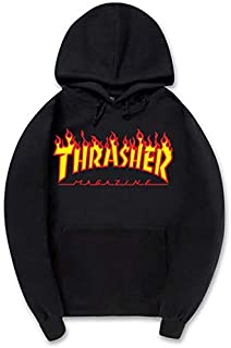 Thrasher flame magazine Hoodie Unisex fashion Skateboard Hooded Sweatshirt For Man and Woman