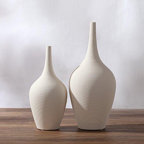 GLJJQMY - Jarrón de cerámica de color blanco minimalista, estilo japonés moderno, decoración del hogar, vajilla de flores creativas
