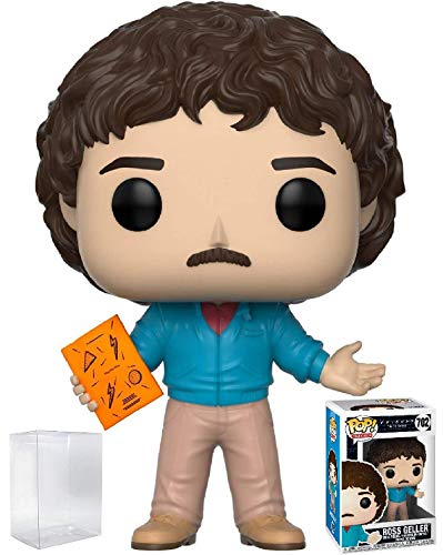 Funko Pop! TV: Friends - Figura de vinilo de Ross Geller de los 80 (con funda protectora de caja de pop)