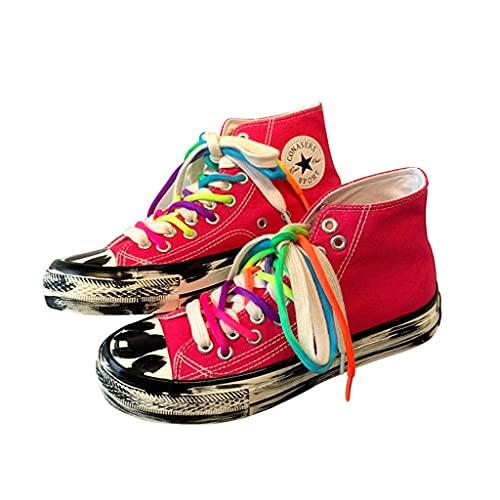 Pintadas Zapato, Bricolaje Zapatillas de Deporte de la Lona de Tinta Salpicaduras, Zapatillas, Zapatillas, Zapatos Casuales, Zapatos Planos, Zapatos de Moda for Mujer (Size : 41/25.5cm)