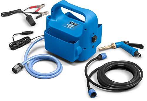 Trac Outdoors Portable Washdown Pump Kit - Self-Priming Marine-Grade Pump - Includes Everything Needed to Power-Spray, Just Add Water (69380)