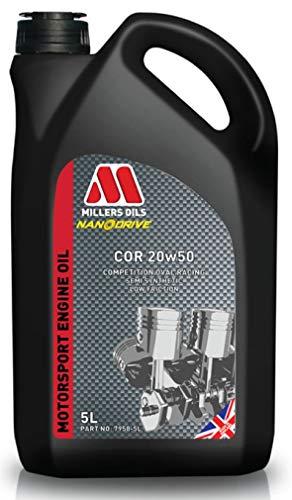 Millers COR 20W50 Motorsport semi-synthetische motorolie, 5 liter