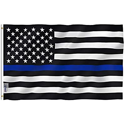 Anley Thin Blue Line US Flag