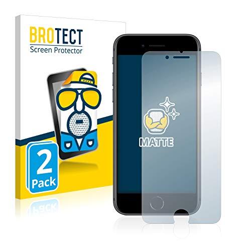BROTECT 2X Entspiegelungs-Schutzfolie kompatibel mit Apple iPhone 8 Bildschirmschutz-Folie Matt, Anti-Reflex, Anti-Fingerprint