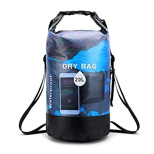 Grevosea Saco impermeable de 10 L/20 L, ligero, con correa para el hombro ajustable, perfecto para el descenso / barate/kayaking/pesca/rafting/natación/camping.