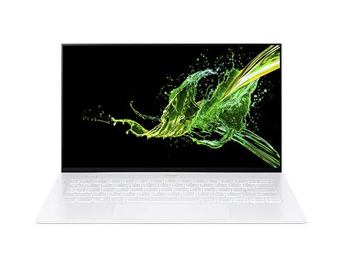 Acer Swift 7 SF714-52T-75YE White Notebook 35.6 cm (14') 1920 x 1080 pixels 8th gen Intel Core i7 16 GB LPDDR3-SDRAM 512 GB SSD Wi-Fi 6 (802.11ax) Windows 10 Home