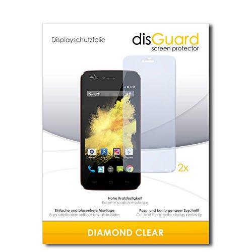 disGuard 2 x Bildschirmschutzfolie Wiko Birdy Schutzfolie Folie DiamondClear unsichtbar