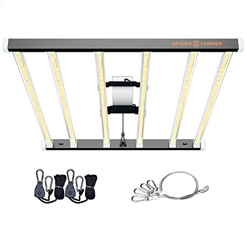 SPIDER FARMER SE7000 LED Grow Lights 650W 5x5ft Coverage Samsung Diodes Detachable Driver Uniformity Full Spectrum Dimmable Daisy Chain Commercial LED Growing Lamp for Indoor Plants Vertical Farming