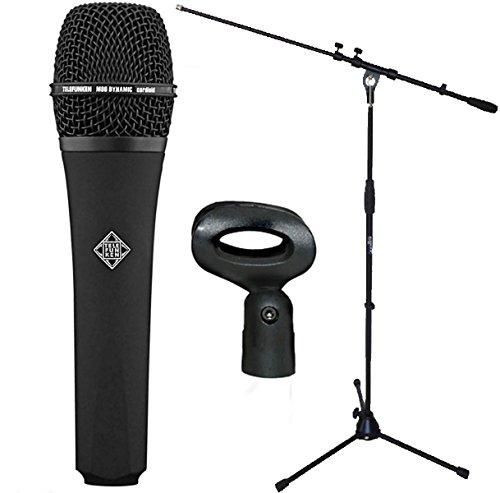 Micrófono Telefunken M80 negro + soporte para micrófono keepdrum