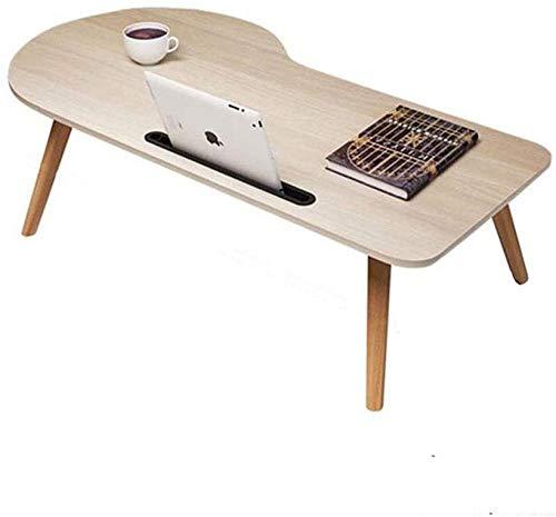 LHYLHY Laptop-Bett Tisch Schreibtisch Faltbare bewegliche Holz Frühstück Tablett Lesehalter Boden Kinder Tabelle (Color : A Size : 100cm)