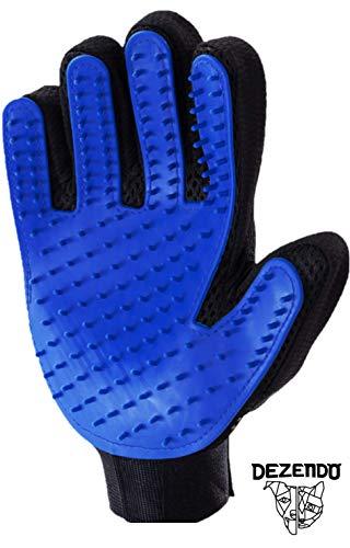 DEZENDO Fellpflegehandschuh für Hund & Katze | Hundehaare & Katzenhaare entfernen inkl. Massageeffekt | Fellpflege mit dem Katzen Handschuh & Hunde Handschuh | Fellhandschuhe Katze & Hunde