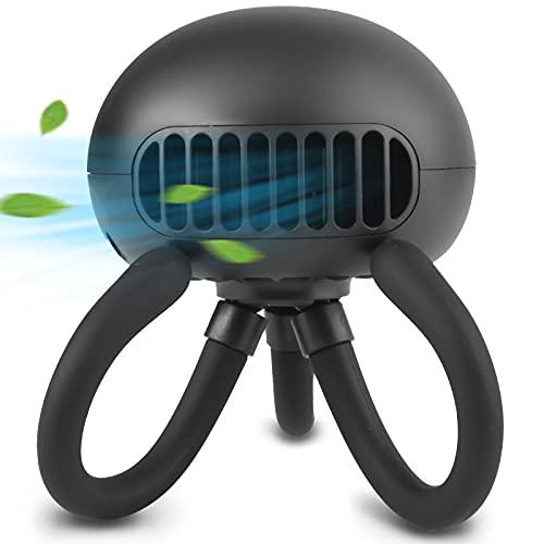 Ventilador portátil sin aspas para cochecito de bebé, mini ventilador de mano con trípode flexible clip en el ventilador de...