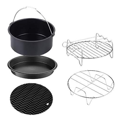DALIN 5 Stück/Set 17,8 cm Air Fryer Zubehör Backen Pizza Pfanne Kuchen Fass Grill Rack