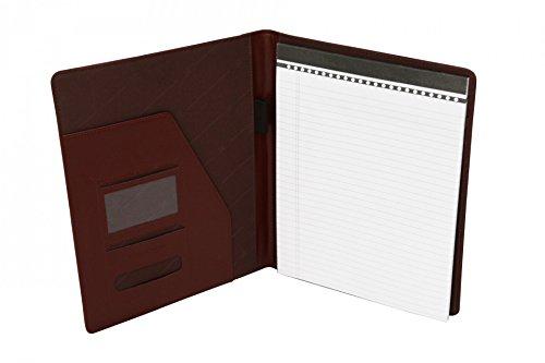 41ns7WQmH9L - Cartera portafolios de estilo ejecutivo - Para documentos de tamaño A4 - Cuero abatanado - Marrón