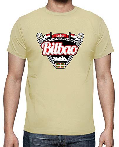 latostadora - Camiseta Bilbao para Hombre Crema L