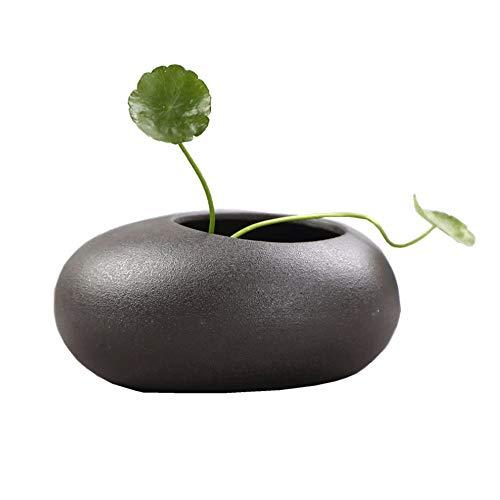 HS-01 Vaas, retro creatieve persoonlijkheid schaal Lotus Seerose koper geld Narcis bloempot, keramiek niet-poreus hydrocultuur water keramiek vaas