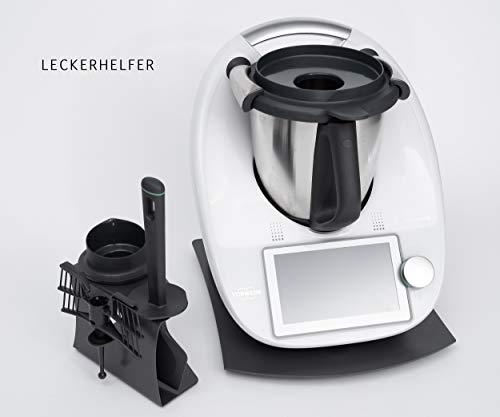 SET-ANGEBOT Gleitbrett für den Thermomix ® TM6 + Zubehörhalter schwarz