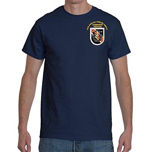 3XLARGE - SOF - 5th SFG Flash Vietnam Veteran War with text Final Gildan-Navy