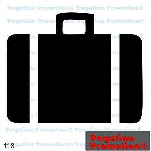 Piktogramm Typ 118 Icon Symbol Zeichen Koffer Gepäck Aufkleber Sticker ca.15cm von Pegatina Promotion® Aufkleber mit Verklebehilfe von Pegatina Promotion® ohne Hintergrund geplottet