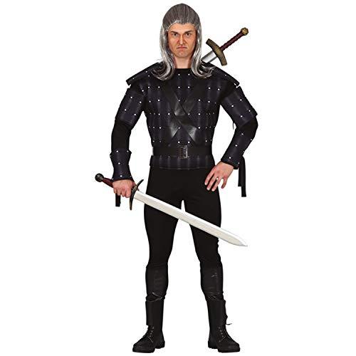 Amakando Autentico Disfraz de Mago para Caballero - Negro M (ES 48/50) - Disfraz de Brujo para Hombre - El Centro de Las miradas para Festival y Carnaval