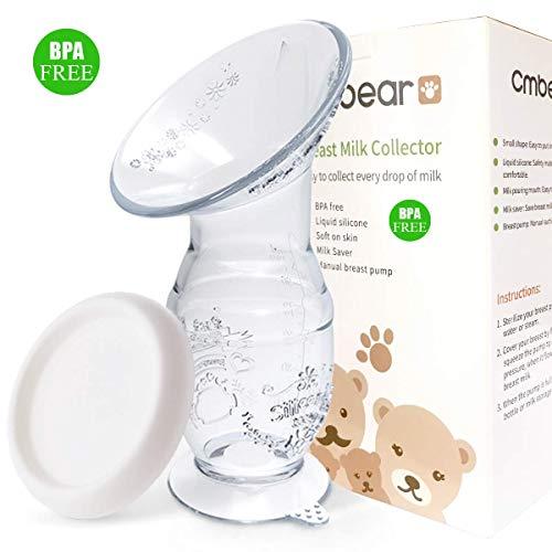 Bestele Brustpumpe Manuelle, 100ml Muttermilchauffänger Rettet Muttermilch Silikon Milchpumpe Stillen, BPA Frei Milch Saver Saug Handpumpe Saugfuss für Breastfeeding (100ml+lid)