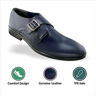 Tapps Men's Geniune Leather Blue Formal Shoes for Men