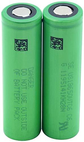Green Us18650 Vtc6 3.7v 3000mah Batería de Repuesto de batería de Iones de Litio de Litio para Faros de Banco de energía 6 Piezas-2 Piezas