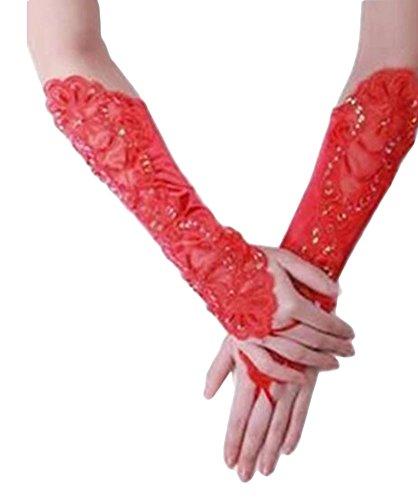 Élégantes Gants de mariage mariée cortège des gants de dentelle de robe-11
