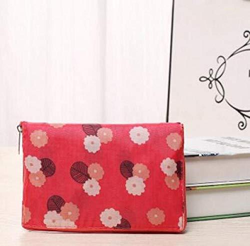 HPPSLT Bolsa de la compra de moda Eco plegable bolsa de compras mujeres S bolsos impermeables plegable reutilizable hogar Tote Shopper bolsas - 6 bolsas (color: 6)
