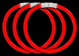 Fun Central 50 Pack - 8 Inch Glow Sticks Bracelets Bulk Party Favors - Red