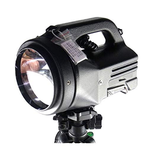 Drdcsad Searchlight High power 100W xenon searchlight outdoor hunting 75W powerful searchlight built-in 12V20AH battery (Body Color : 35W, Emitting Color : White)