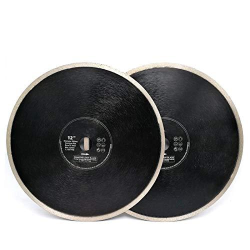 BYOLPMKK-Jiajia Industrial Accessories 2pcs Dia12inch 300mm Hot Pressed Continue Rim Porcelain Tile Ceramic Saw Blades Diamond Cutting Disc Diamond Wheel