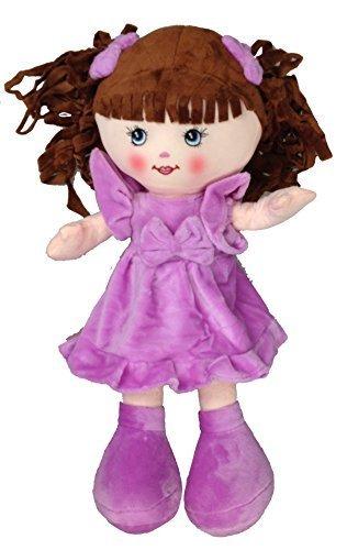 GMMH Puppe Safinaz Weichpuppe Stoffpuppe Schlenkerpuppe weich waschbar 45 cm (lila)
