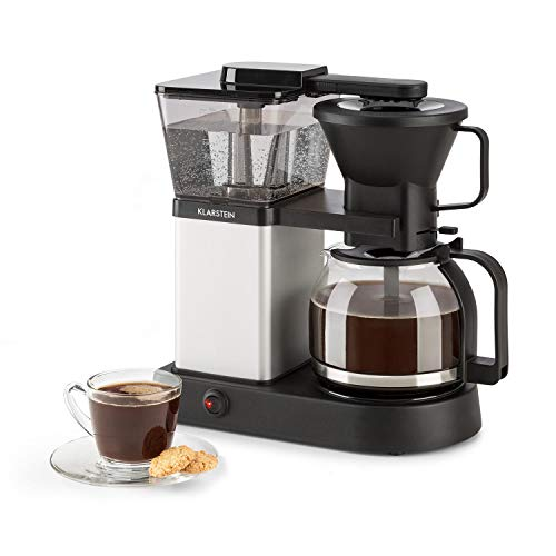 Klarstein GrandeGusto Kaffeemaschine mit Kaffeekanne - Filter-Kaffeemaschine, Kaffeeautomat, 1690 Watt, 1,3 Liter Tank, bis 10 Tassen, 96°C Brühtemperatur, Warmhaltefunktion, schwarz-metallic
