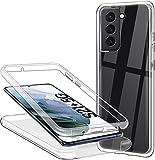 Hülle für Samsung Galaxy S21 Plus 5G Handyhülle 360 Grad, Transparent Full Schutz Kratzfest Dünn Durchsichtige Hülle Silikon Schutzhülle, Hart PC Zurück + Weich TPU Vorderseite