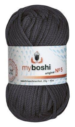 Myboshi Nr. 5, alle Farben, 3x Wolle kaufen = 1 Label gratis (595 anthrazit)