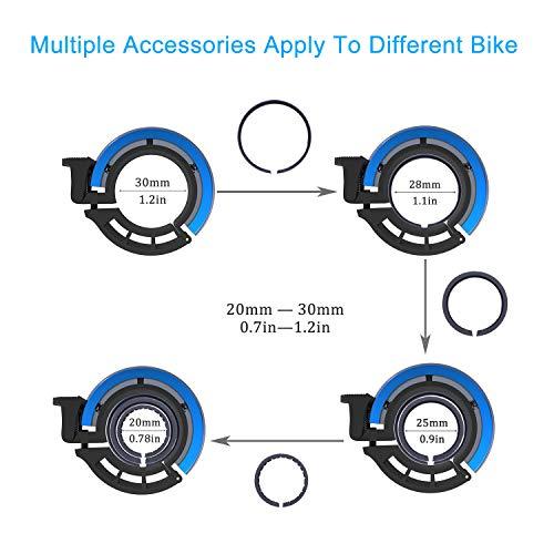 Sportout Aluminiumlegierung Innovative Fahrradklingel Fahrrad Ring mit Lauten Klaren Klaren Kla, für Lenker von 22,2 bis 31,8 mm(Black) - 3