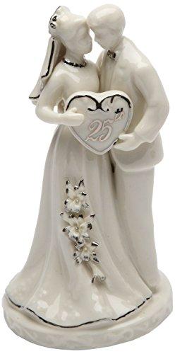 Cosmos Gifts 30716 Ceramic 25th Anniversary Couple Figurine,...