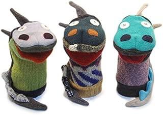 Cate & Levi - Hand Puppet - Premium Reclaimed Wool - Handmade in Canada - Machine Washable (Dragon)