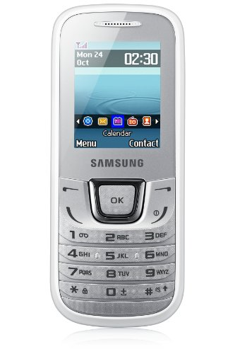 Samsung E1280 Handy (4,5 cm (1,8 Zoll) LCD-Display, 3,5mm Klinkenstecker, microUSB) weiß