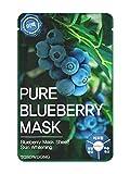 TOSOWOONG masksheet pack de 10PCS/máscara/esencia Máscara Facial máscara hoja/Aloe/arándano/té verde/caracol profunda agua de mar/propóleos (arándano)