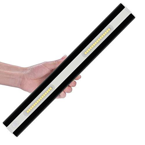 Preisvergleich Produktbild Klighten 3er Pack LED Schrankbeleuchtung mit Bewegungsmelder,  30 LED Kleiderschrank Lampen Unterbauleiste Beleuchtung Küchenlampen Kaltes Weiß 6000K,  Schwarz