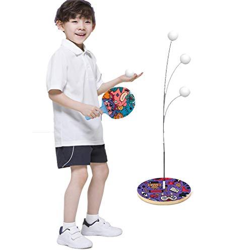 Buy Bargain nurrat Table Tennis Training Set Elastic Soft Shaft Children Table Tennis Training Toy A...