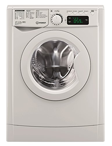 Indesit EWE 71483 W DE Waschmaschine FL/A+++ / 174 kWh/Jahr / 1400 UpM / 7 kg / 10840 l/Jahr/MyTime-Schneller als 1 Stunde/Inverter-Motor/leise nur 54 db/Wasserstopp/weiß