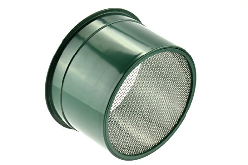 "SE 5.5"" Mini Stackable Sifting Pan, 10 Holes/Square Inch - GP4-10"