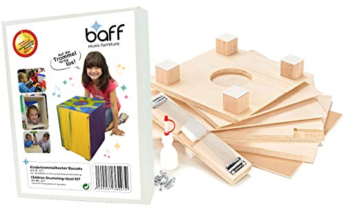 baff Musikmöbel Kindertrommelhocker Bausatz Cajon-Bausatz mit Sitzhöhe 38 cm